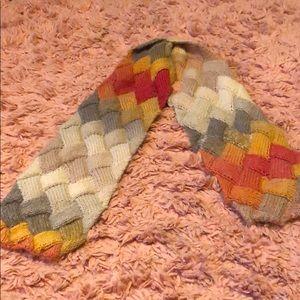 handknit ombré scarf